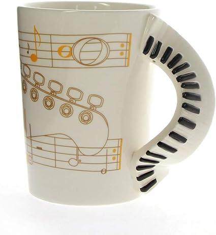 HMKZXQ Mangos de teclados de Piano con Nota Musical Taza de ...
