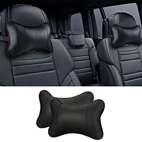 [Pack of 2] Car Neck Pillow , JELEGANT Breathable Auto Head Neck Rest Cushion Relax Neck Support Headrest Comfortable Soft Pillows for Travel Car Seat & Home (Car Headrest Pillow)