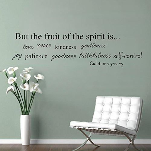 MairGwall But The Fruit of The Spirit is Love Peace Kindness.Living Room Vinyl Wall Art Decal Christian Inspirational Home Decor Saying Art£¨Medium,Black£