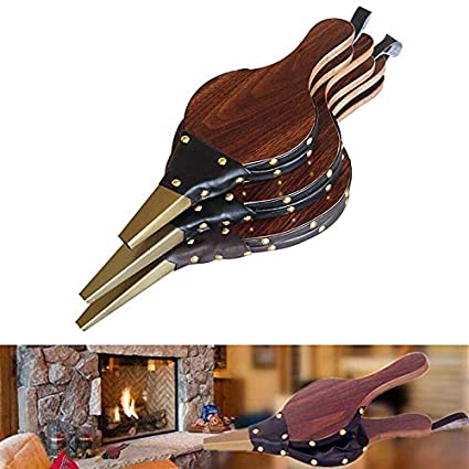 Wood Bellows Manual Fireplace Bellows Air Blower Outdoor Camping Barbecue BBQ