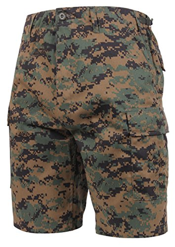 Rothco Bdu Short P/C - Woodland Digital Camo, Large