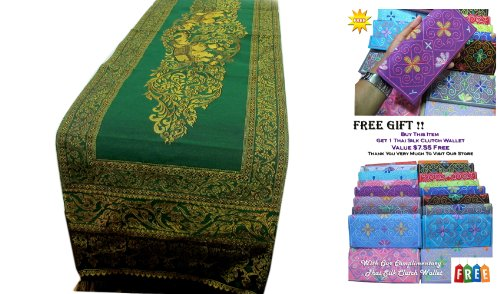 ''HitHot'' BEAUTIFUL THAI SILK TABLE/BED RUNNER by HitHot