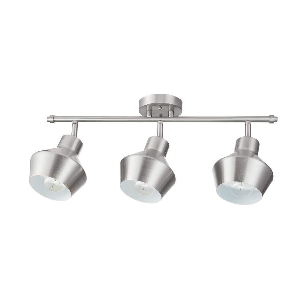 Globe Electric Asher 3-Light Track Lighting, Brushed Nickel 59455