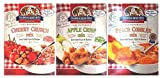 Calhoun Bend Mill All Natural Dessert Mix 3 Flavor Variety Bundle: (1) Calhoun Bend Mill Peach Cobbler Mix, (1) Calhoun Band Mill Apple Crisp Mix, and (1) Calhoun Bend Mill Cherry Crunch Mix, 8 Oz. Ea