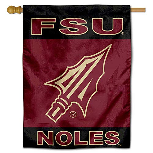 College Flags and Banners Co. FSU Seminoles Spearhead Double Sided House Flag