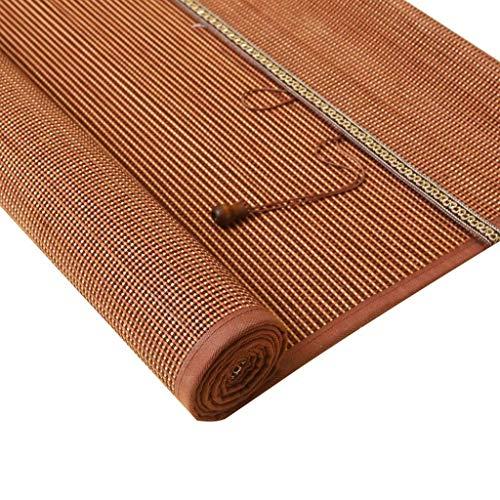 Bamboo Roller Shades with Cord, Light Filtering Roll up Blinds - Door,Patio,Bedroom,Doorway,Outdoor, 95% Blackout Blind,Brown ZHANGAIZHEN (Color : Bamboo, Size : 120×200cm)
