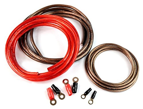 Battery Cable Kit - 1000 watt 4 GA Heavy-Duty AC Power Inverter Cable Installation Kit Universal