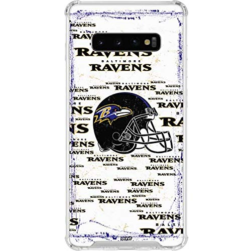 Skinit Baltimore Ravens Galaxy S10 Plus Clear Case - Officially Licensed NFL Phone Case - Transparent Galaxy S10+ Cover
