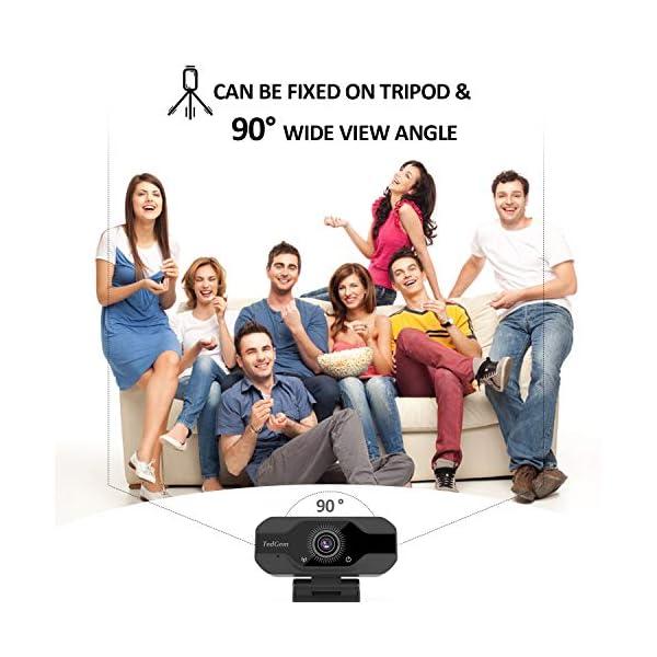 TedGem Webcam, Full HD 4K/1080P PC Webcam Camera con Microfono USB Live Streaming Webcam per Videochiamate e… 3 spesavip