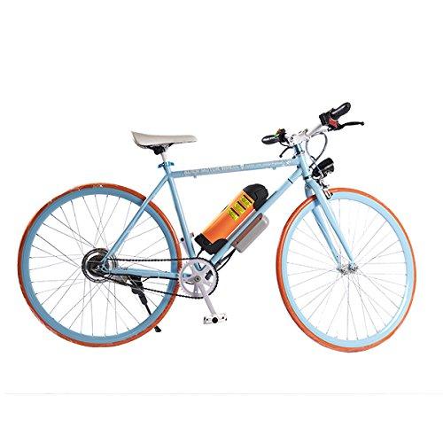 ELECTRIC Fixie Bike 350W 33MPH Alien Motor Wheels TM (BLUE/ORANGE/BLUE/ORANGE)
