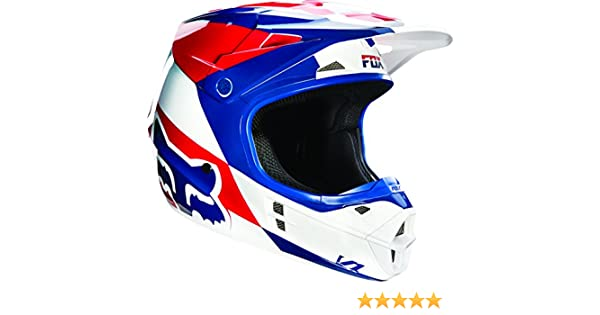 Amazon.com: Fox Racing Mako Mens V1 Motocross Motorcycle Helmet - Blue/White / X-Small: Automotive