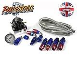 Blue High Spec Adjustable Fuel Pressure Regulator Kit