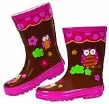 owl rain gear - Stephen Joseph Little Girls' Little Girls' Rain Boot, Owl, 8