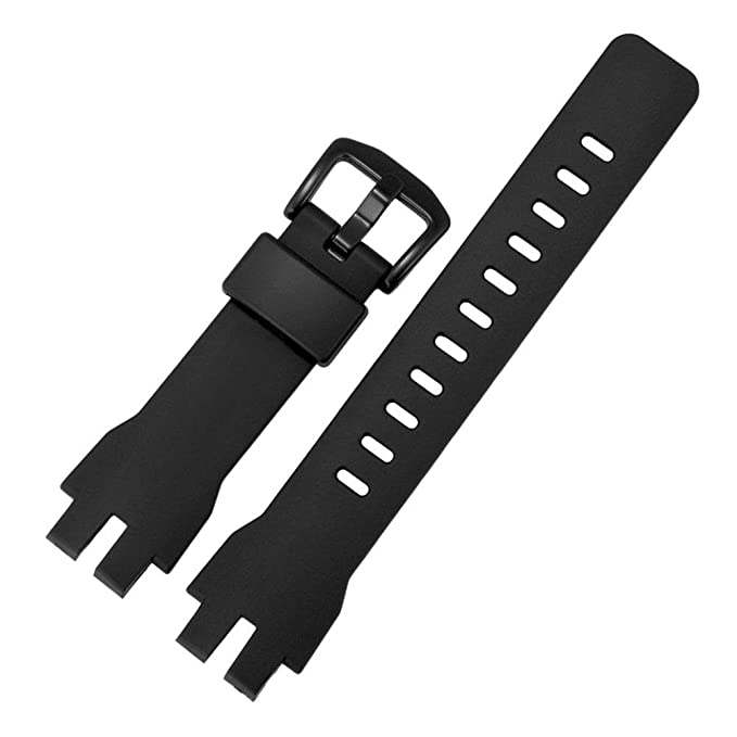 Amazon.com : Xinvision Replacement Watch Band for Casio PROTREK PRW-3000-1A/PRW-3100Y/PRG-300 - Waterproof Natural Resin Strap(Black) : Sports & Outdoors