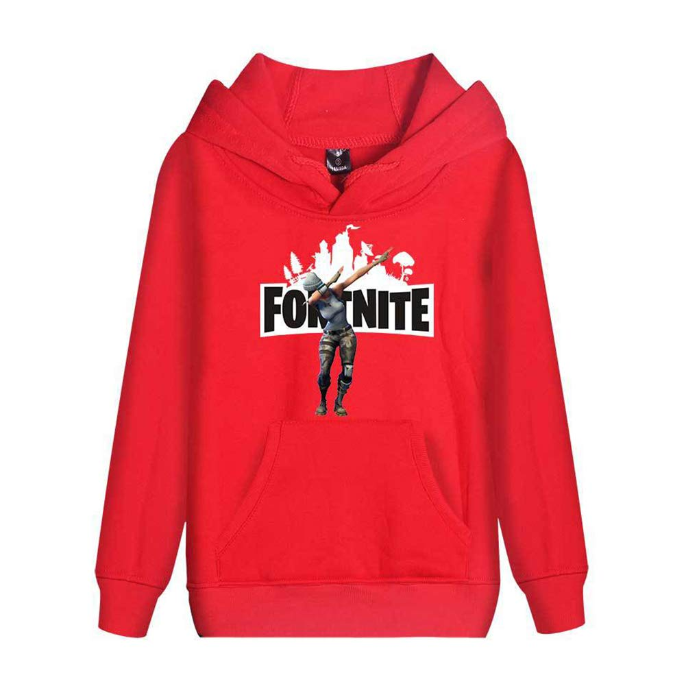 Merdbu Girls Boys Fortnite Hoodie Hooded Crewneck Comfort Kids Sweatshirts