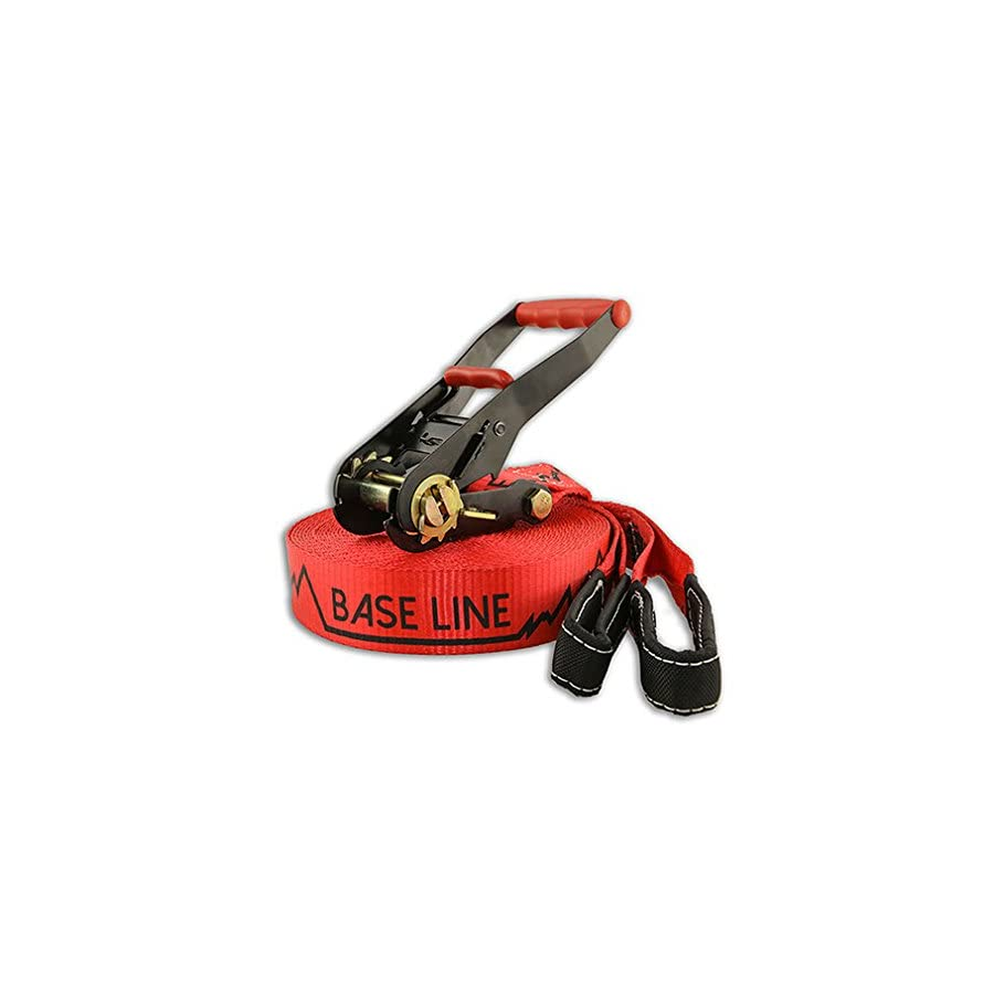 Slackline Industries Baseline Slackline, Red, 85 Feet