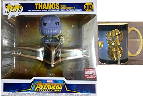 (Funko Pop! Rides Marvel Collector Corps: Avengers Infinity War - Thanos with Sanctuary Vinyl Figure & Infinity Gauntlet Heat Changing Mug)