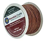 Mandala Crafts 1mm 109 Yards Jewelry Making Beading Crafting Macramé Waxed Cotton Cord Thread (Brown)