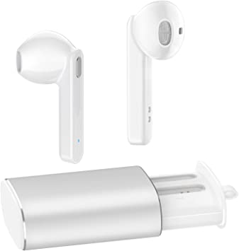 Amazon Com Wireless Earbuds Bluetooth 5 0 Headphones Augymer Bluetooth Earphones Auto Pairing True Tws Stereo Hifi Headphones For Running Sports In Ear With Fast Charge Charging Case Built In Mic Headset White Home Audio