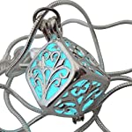 UMBRELLALABORATORY Wishing Necklace, Steampunk Jewelry Box Fairy Magical Glow in The Dark-Blue-Silver 8