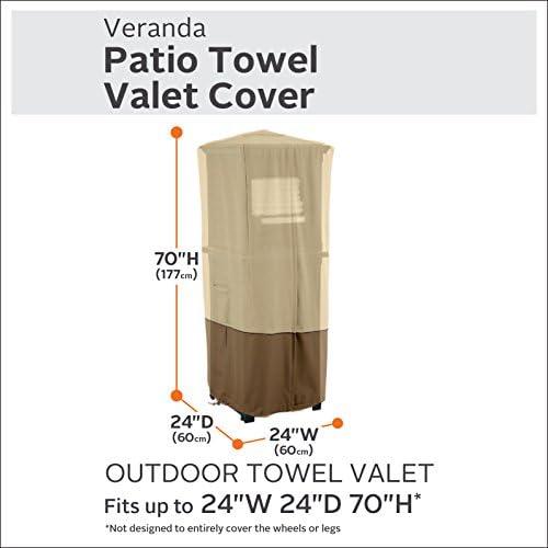 Classic Accessories Veranda Water-Resistant 24 Inch Patio Towel Valet Cover