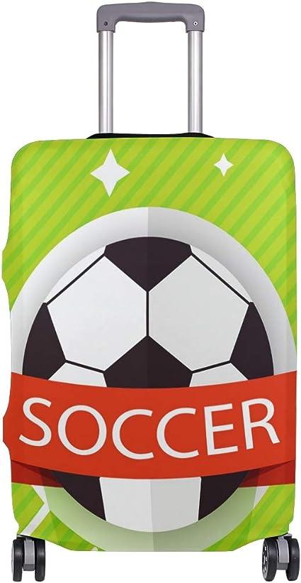 ALINLO Funda de Equipaje con patrón de balón de fútbol para Maleta ...