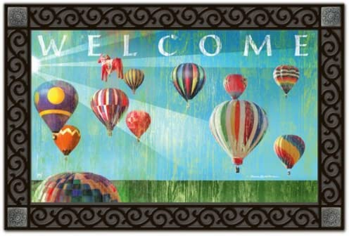 Magnet Works Hot Air Balloon Welcome Doormat MatMate Item 12318D