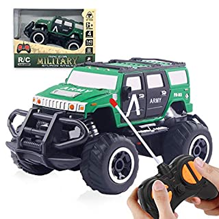 TENOL Birthday Gift for 3-4 Years Old Boys, Xmas Gifts for 5 Year Old Boys Remote Control Model Vehicle for Kids Toys Cars for Christmas for Boys 6-8 Years Old Hummer Green