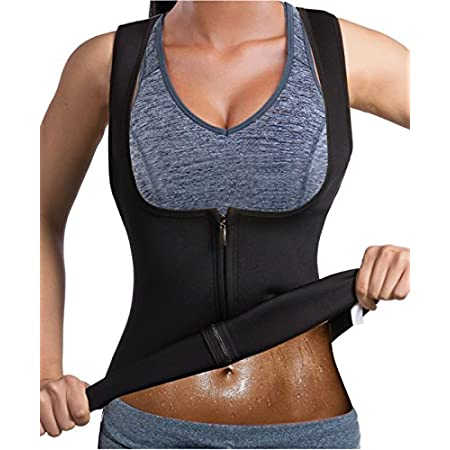 Health Shopping GAODI Women Waist Trainer Vest Slim Corset Neoprene Sauna Tank Top Zipper Weight