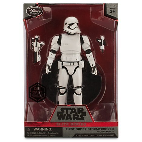 [Official Star Wars 6.5'' Elite Series Die-Cast Figure, First Order Stormtrooper by Disney] (Stormtrooper Disney)