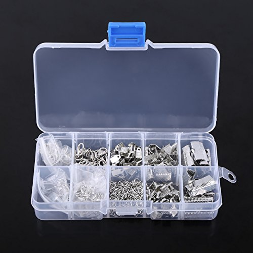 Jumper Ring - 200Pcs Jewelry Making Findings Starter DIY Jewelry Jumper Rings Extender Chain Ribbon Crimps for Necklace Bracelet Key Chian Making with Box (Silver)