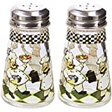 Grant Howard Hand Painted Tapered Salt and Pepper Shaker Set, Chefs, Multicolor