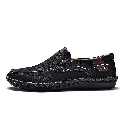 2018 Nuevos zapatos casuales para hombres. Zapatos hechos a mano, mocasines de microfibra,