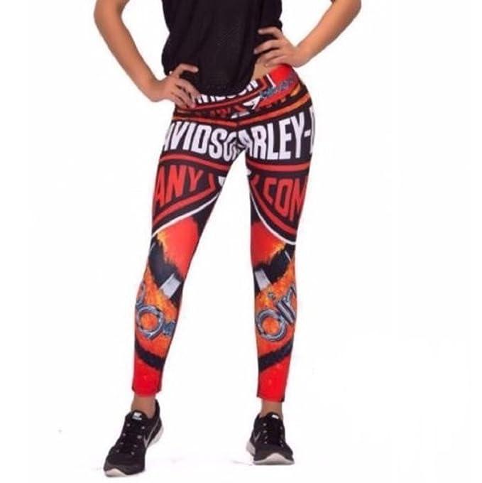 94494ed04b9551 Harley Davidson Fitness Workout Yoga Gym Legging Pants Lift / Shape  Colombian: Amazon.ca: Clothing & Accessories