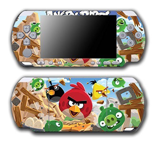 Angry Birds Red Chuck Bomb Pig Video Game Vinyl Decal Skin Sticker Cover for Sony PSP Playstation Portable Slim 3000 Series System by Vinyl Skin Designs