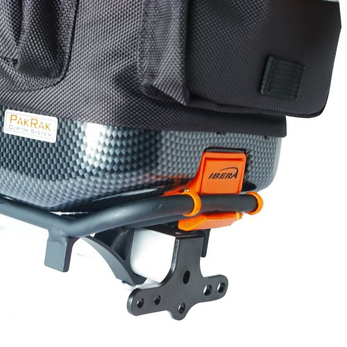 Ibera Bike Trunk Bag PakRak Clip On Quick Release Bicycle Commuter Bag (IB BA1)