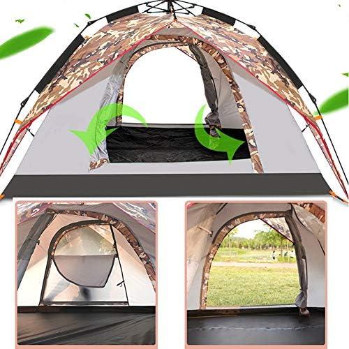 Camping Tent 3-4 Persoon Verdikte Oxford-stof Waterdicht Zonnebrandcrème Pop-up Strandtent Voor Buiten Kamperen 230×200×140cm