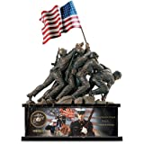 USMC Iwo Jima Memorial Tribute Sculpture by The Bradford Exchange