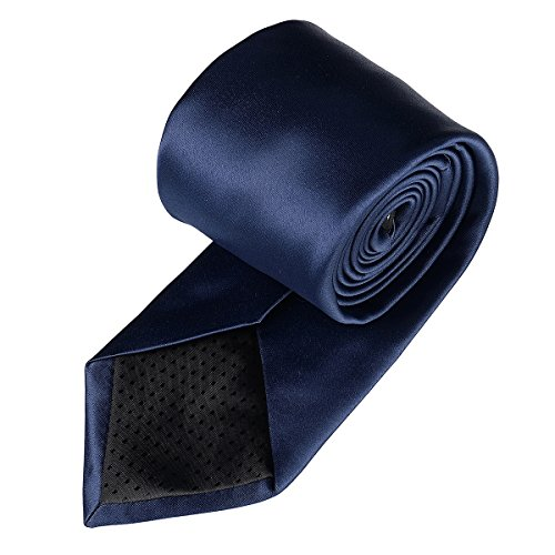 Color Neck in Classic Men Colors Party Polyester Wedding Satin Work Blue Neckties Ties Formal Solid 22 Plain navy Pure 21 for r8nxrCZq
