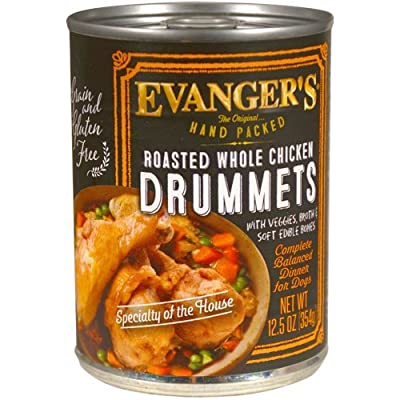 Evanger's Evanger's Roasted Chicken Drumette Canned Dog Food 13.2 oz cans / case of 12 Canned Food