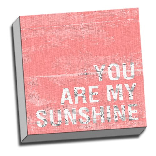 """""""You Are My Sunshine Quote Wall Decoration Art Image Printed"""