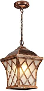 CCAN Victoria Ceiling Lantern Lamp Outdoor Traditional E27 Garden Porch Patio Hanging Lantern Decor Chandelier for Countryside Gazebo Community Waterproof IP55 Interesting Life