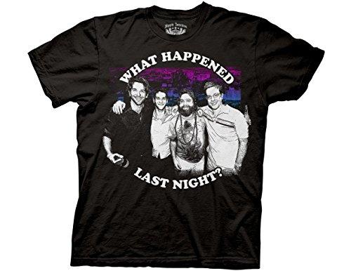 Ripple Junction The Hangover What Happened Last Night Adult T-Shirt Medium Black