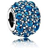 PANDORA 潘多拉 女士蓝调寒露925银串珠 791755NLB (丹麦品牌)