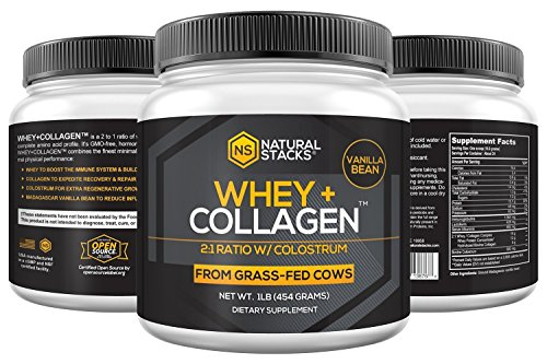 Whey Protein Powder-Natural Stacks-Natural Whey + Collagen-30 Day (Vanilla) by Natural Stacks