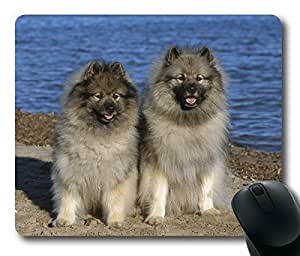 The Netherlands Lion Dog Sitting on The Beach ,Rectangle mouse pad