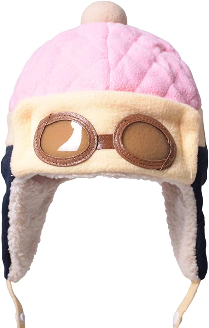 SAYEEC Kids Beanie Hats for Winter Boys Fleece Caps Aviator Warm Hats with Earmuffs