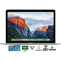 Apple MLHE2LL/A 12 MacBook Intel M3 256GB SSD Retina Display Laptop - (Certified Refurbished)