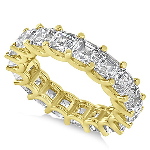 - Allurez Radiant-Cut Diamond Eternity Wedding Band Ring in 14k Yellow Gold (7.20ct)