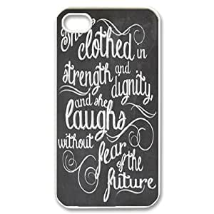 Personalized New Print Case for iphone 5c, She is clothed with strength Phone Case - HL-521091
